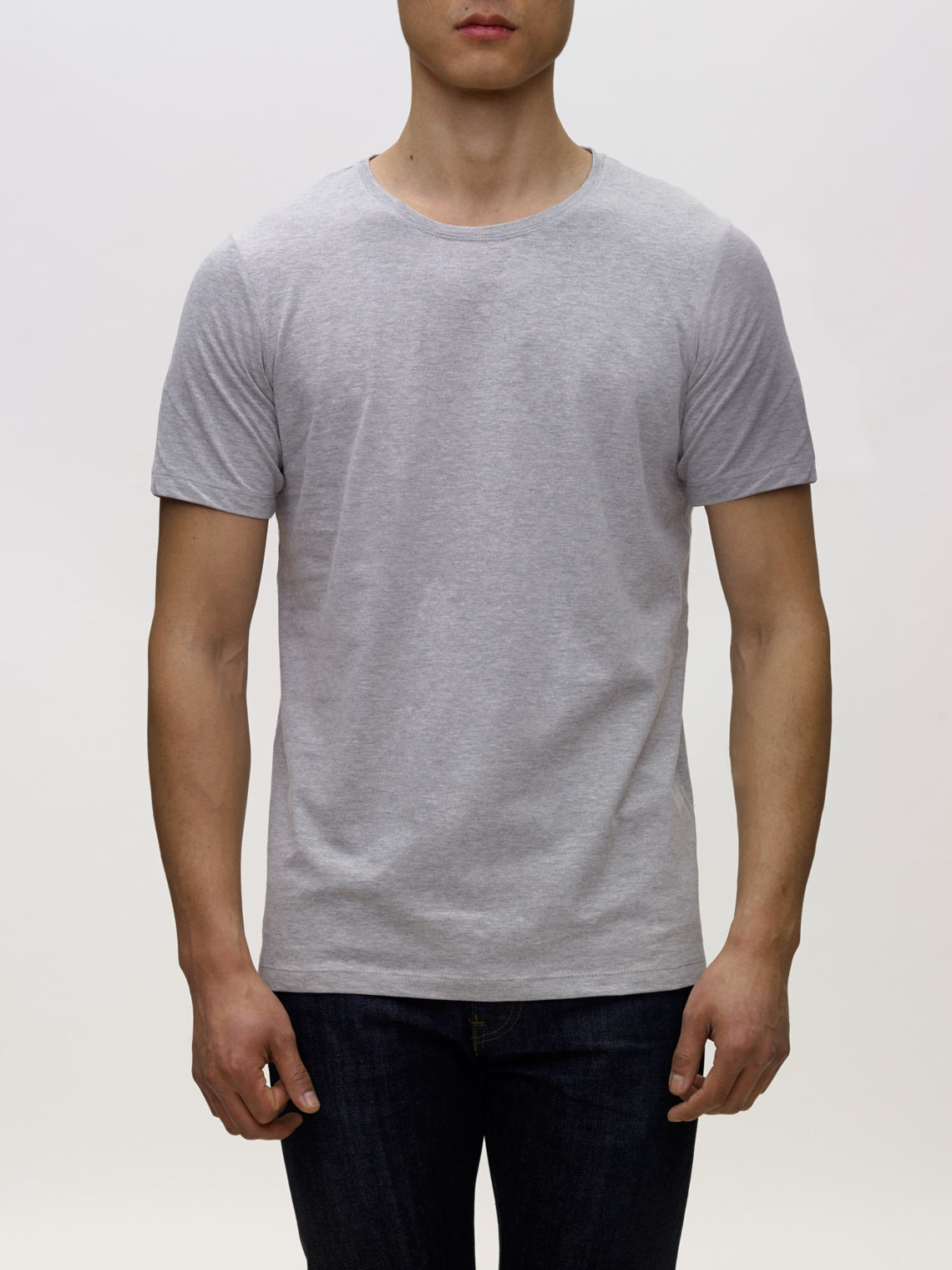 Product Shot of the The Crew in Heather Grey