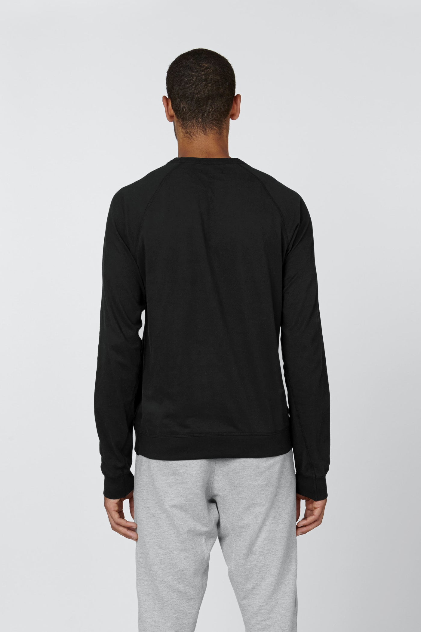 Product Shot of the The Longsleeve in Black