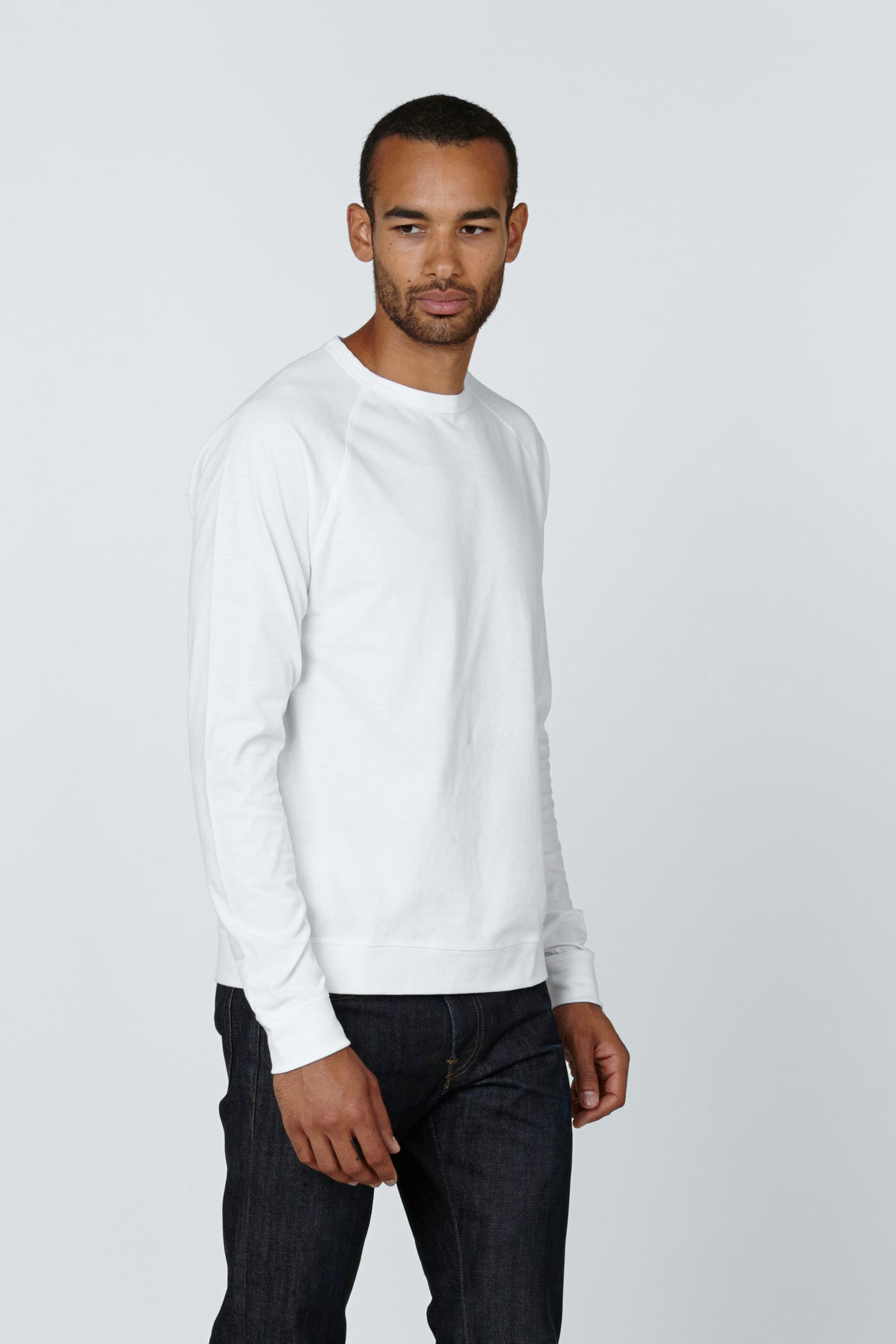 Product Shot of the The Longsleeve in White