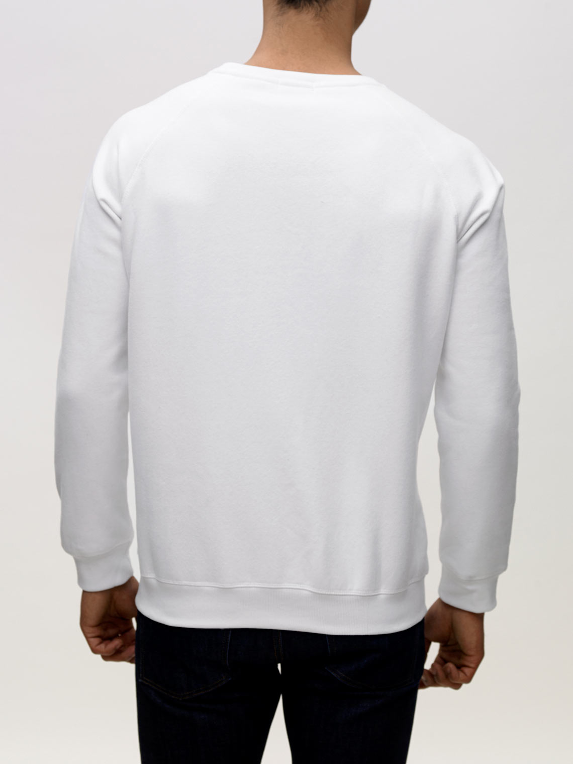 Product Shot of the The Sweatshirt in White