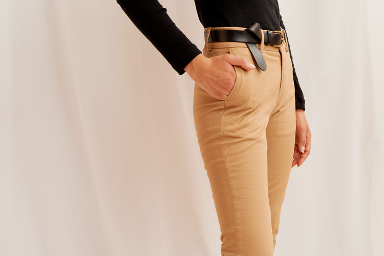 Slim Cropped Trouser Khaki