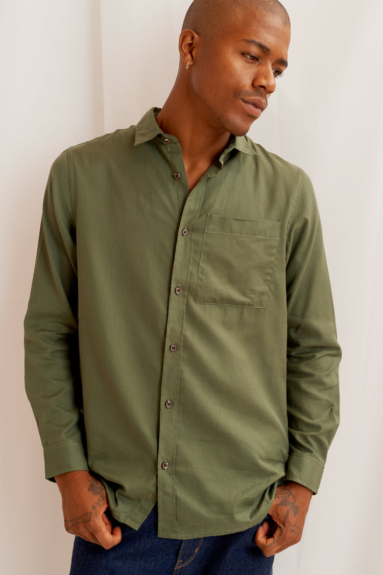 On-Set Shirt in Army Green Army Green