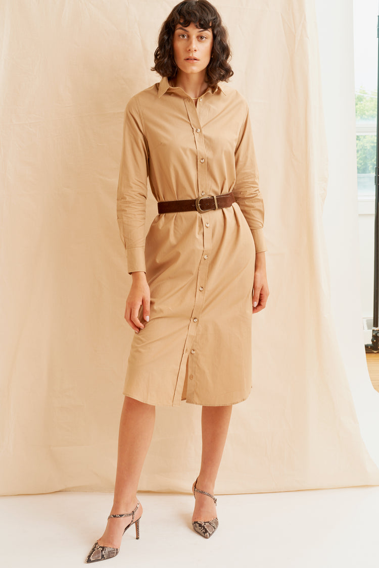 Shirt Dress Khaki