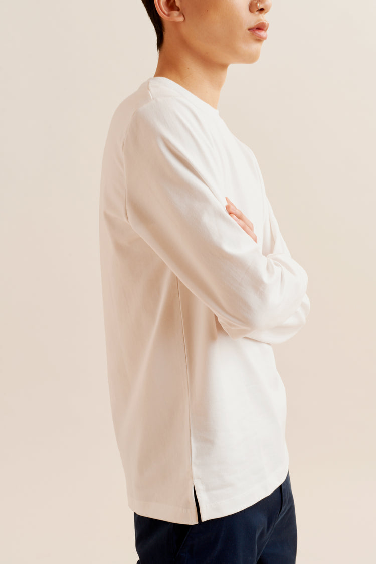Heavyweight Longsleeve white