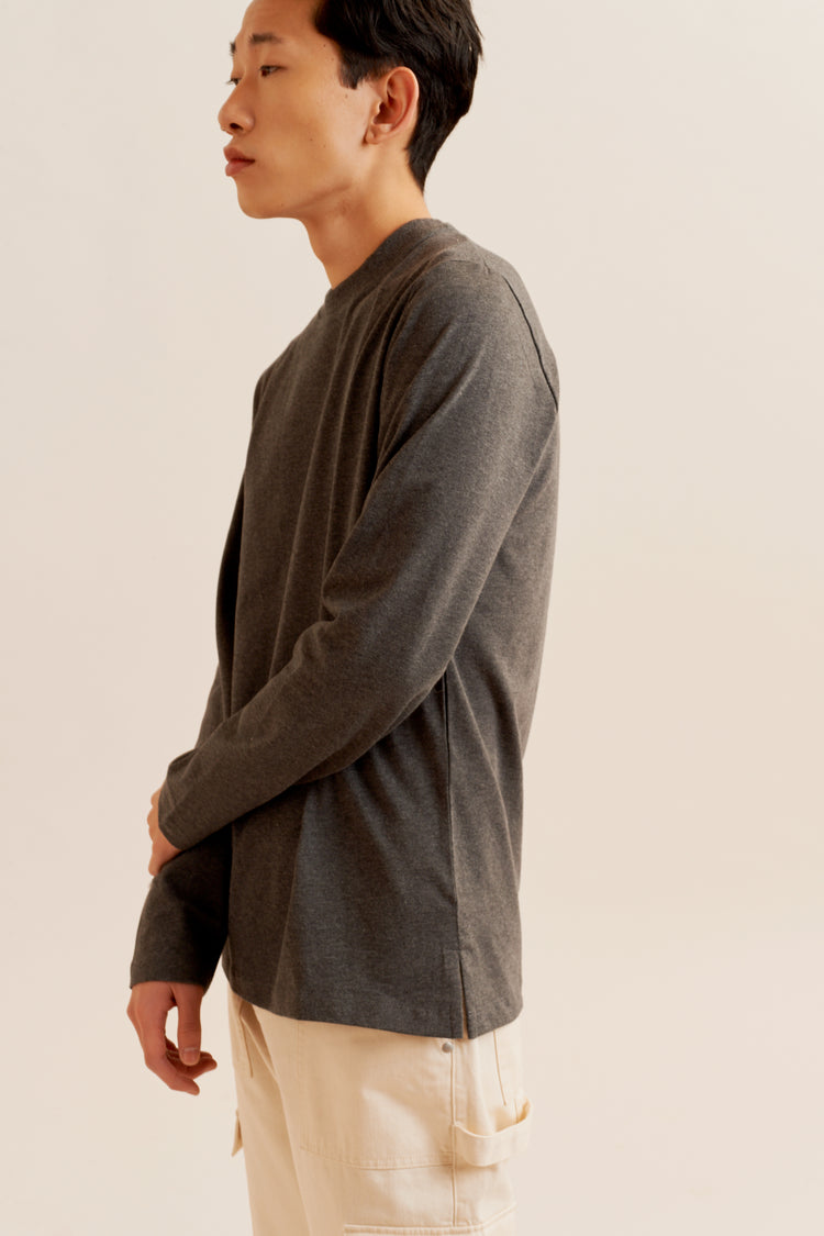 Heavyweight Longsleeve Charcoal Melange