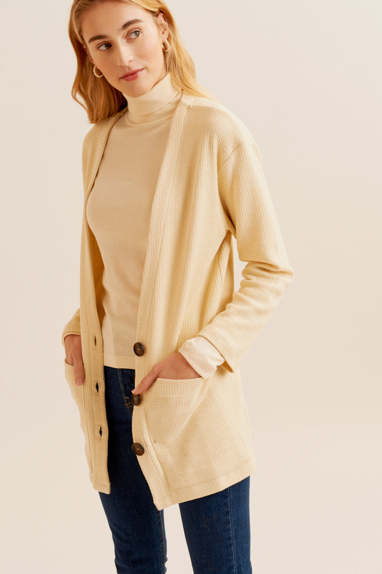 Relaxed Cardigan in Alabaster alabaster