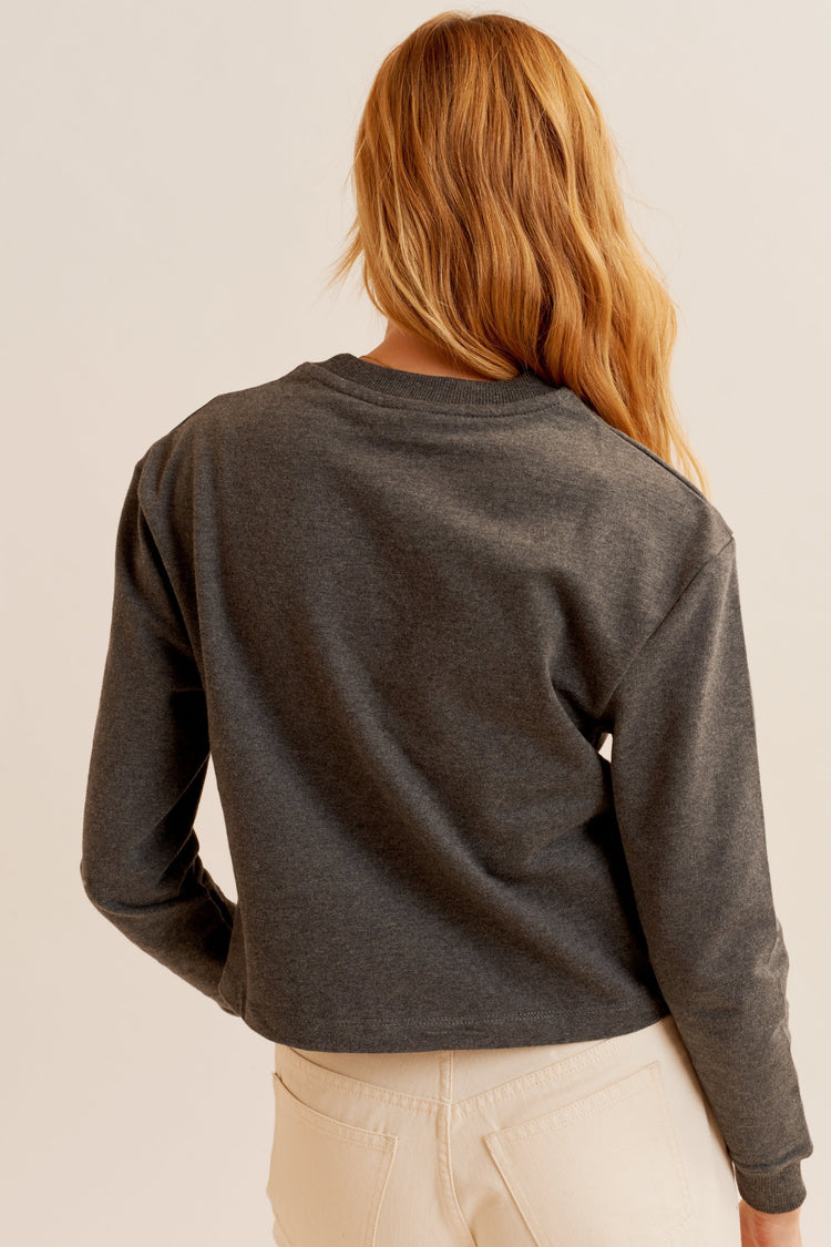 Airy Sweatshirt charcoal melange