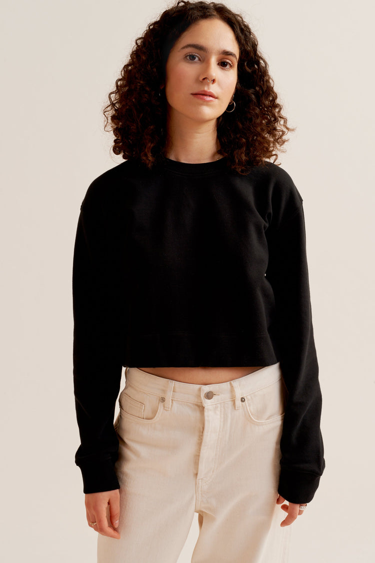 Cropped Sweatshirt Black