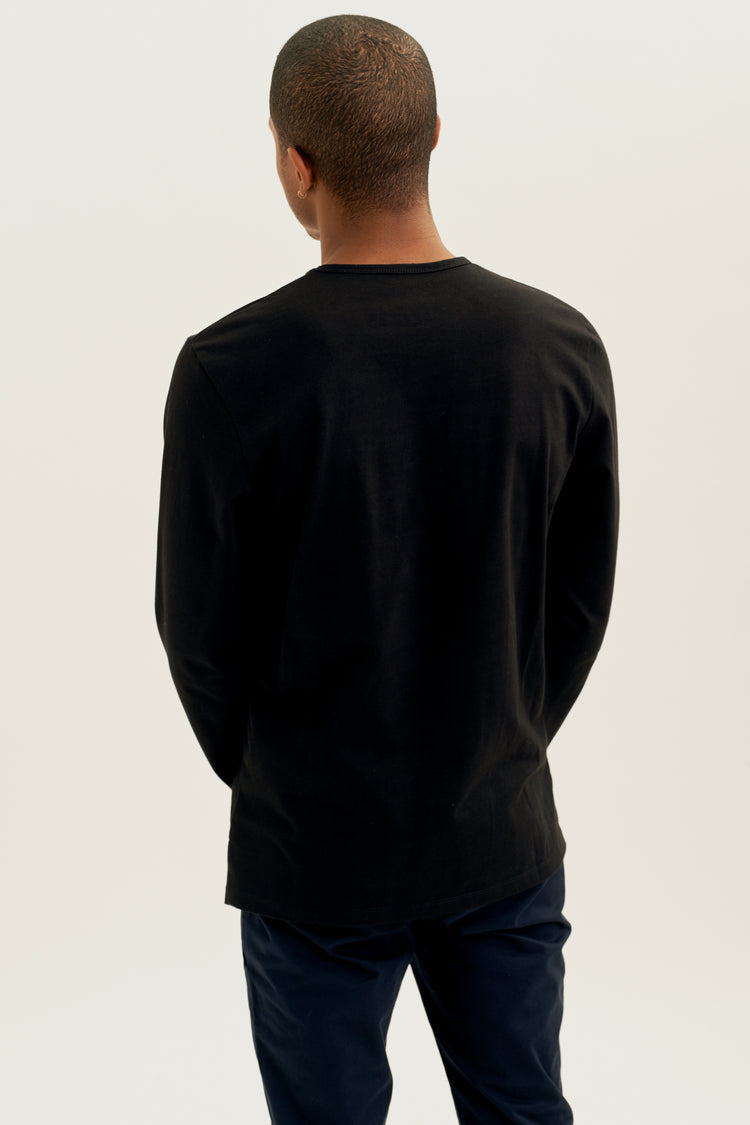 Heavyweight Longsleeve in Black Black
