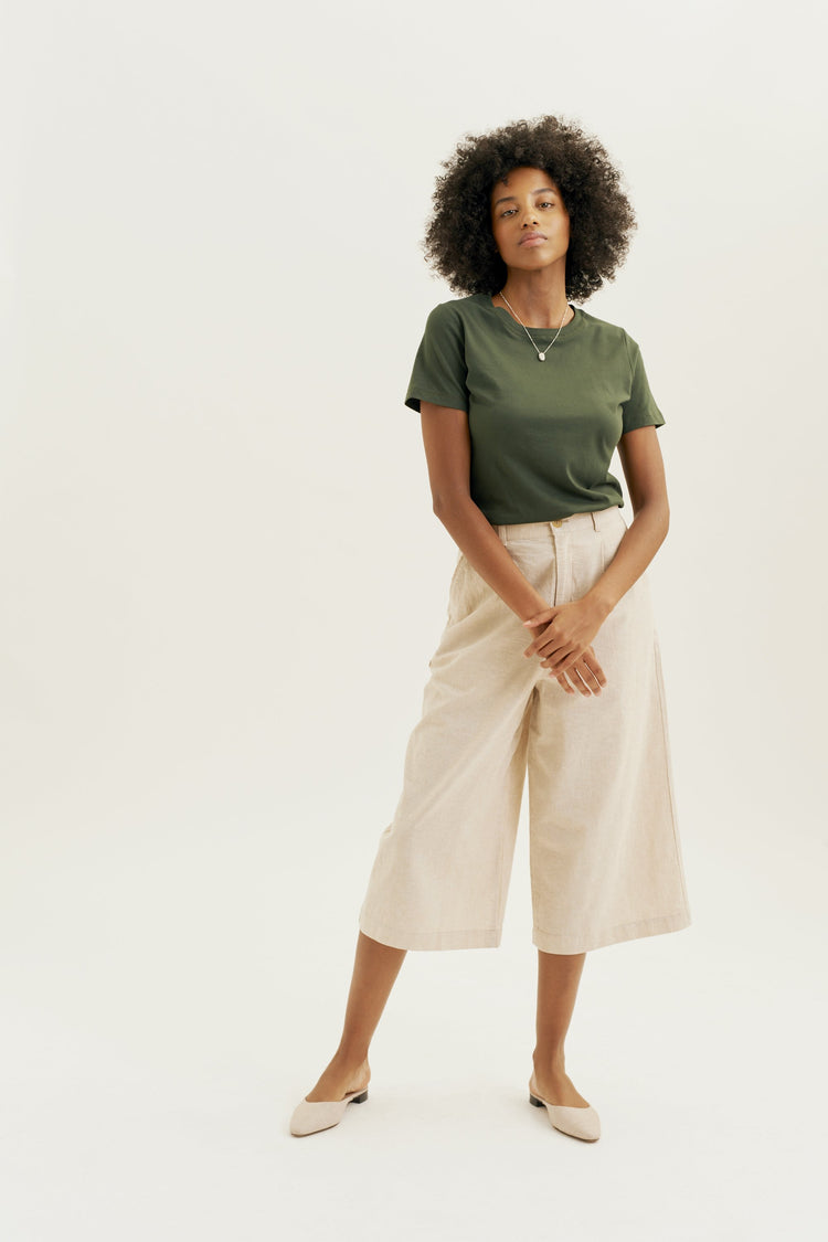 Women's Essential Crew Army Green