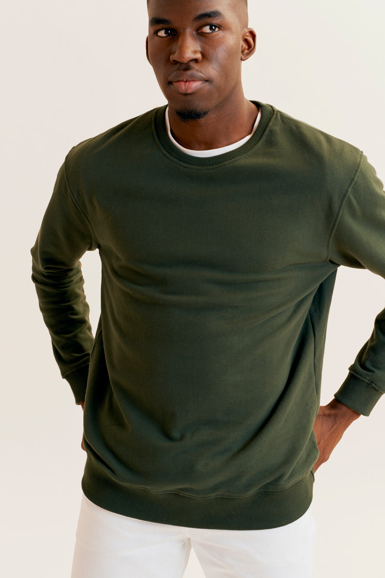 Essential Sweatshirt Army Green, men