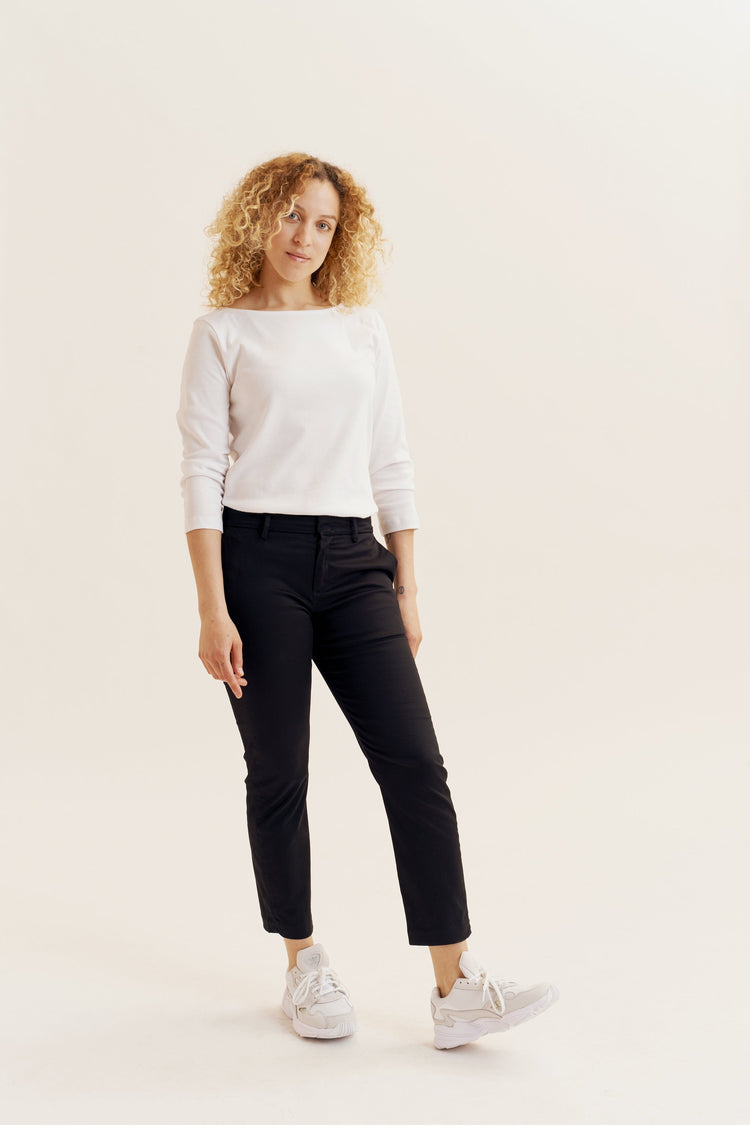 Slim Cropped Trouser Black