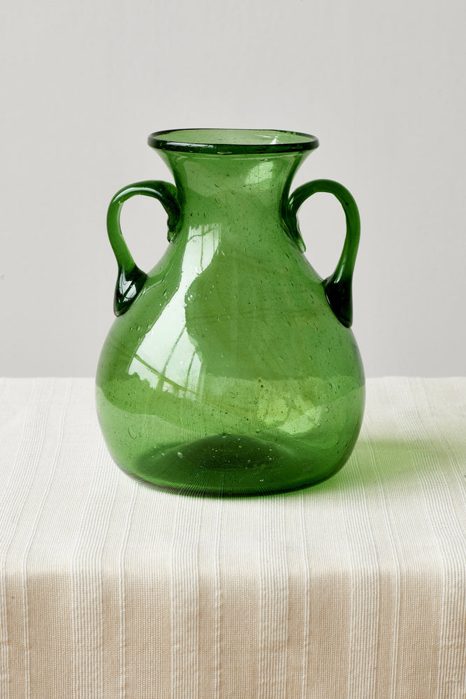 Glass Vase in Emerald