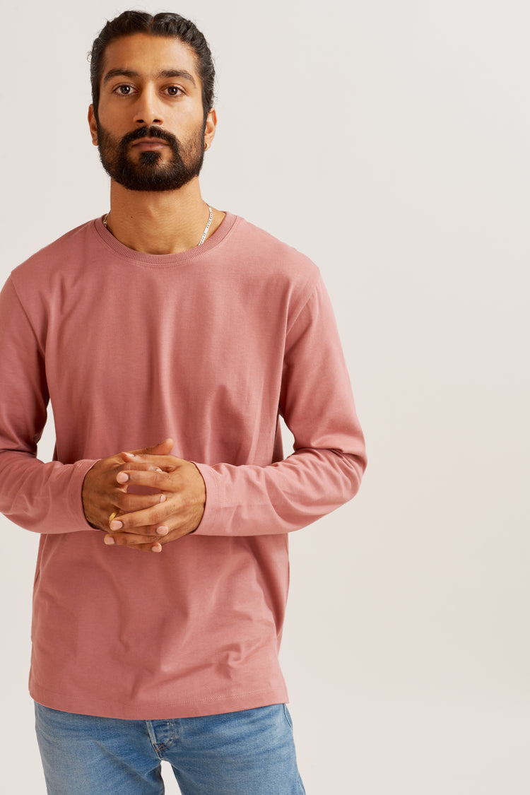 Heavyweight Longsleeve in Mauve Mauve
