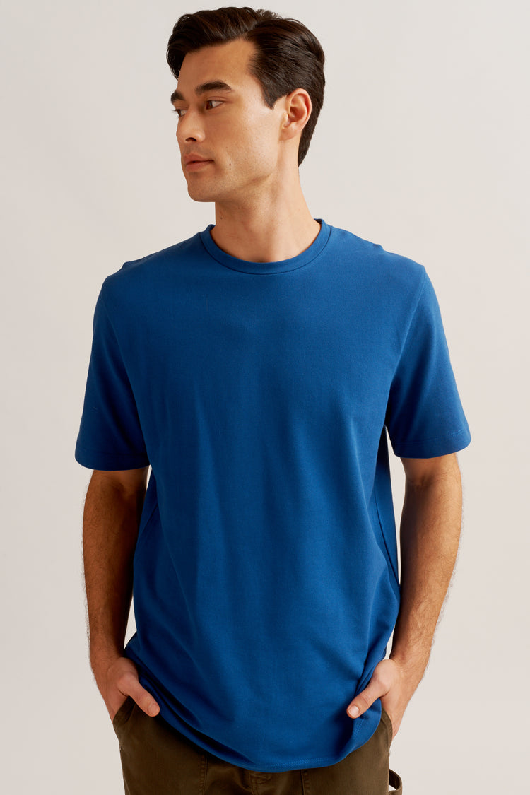 Pique T-shirt in Egyptian Blue egyptian blue