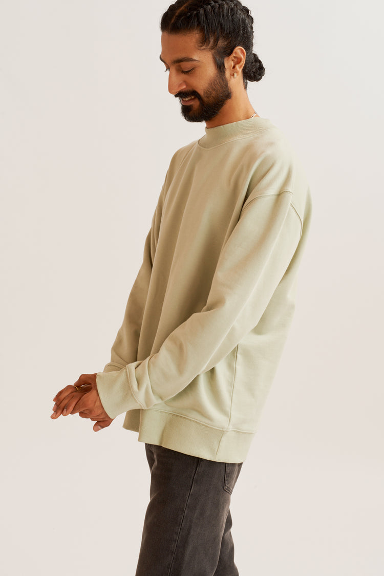 Mock Neck Sweatshirt Moss