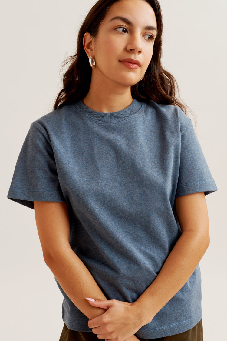 Women's Band Tee Dusty Blue