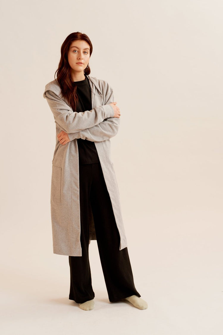 Loopback Terry Robe in Heather Grey Heather Grey