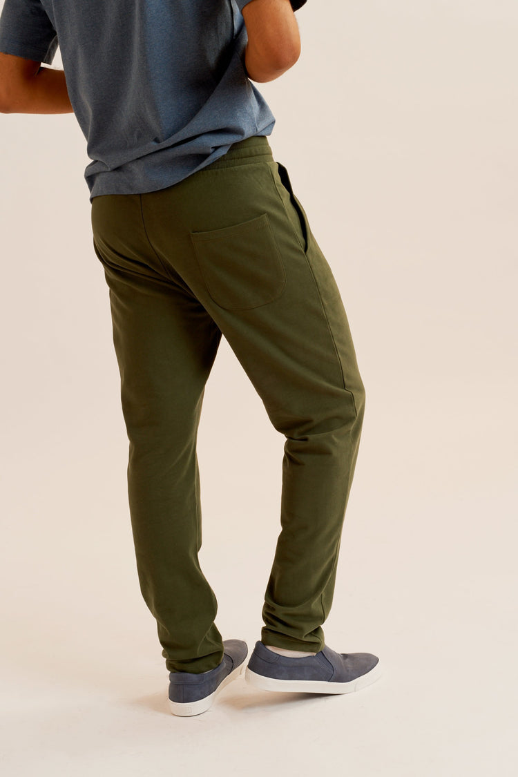 Straight Sweatpant in Khaki Green Khaki Green