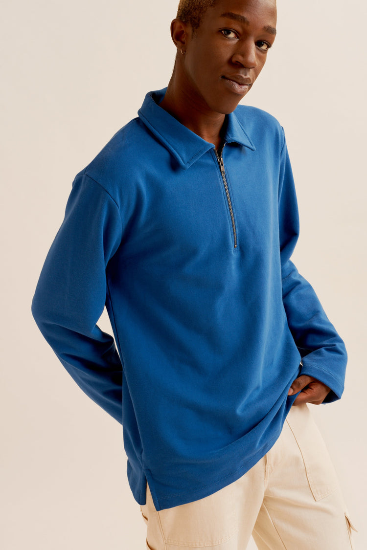 Half-zip Sweatshirt Egyptian Blue
