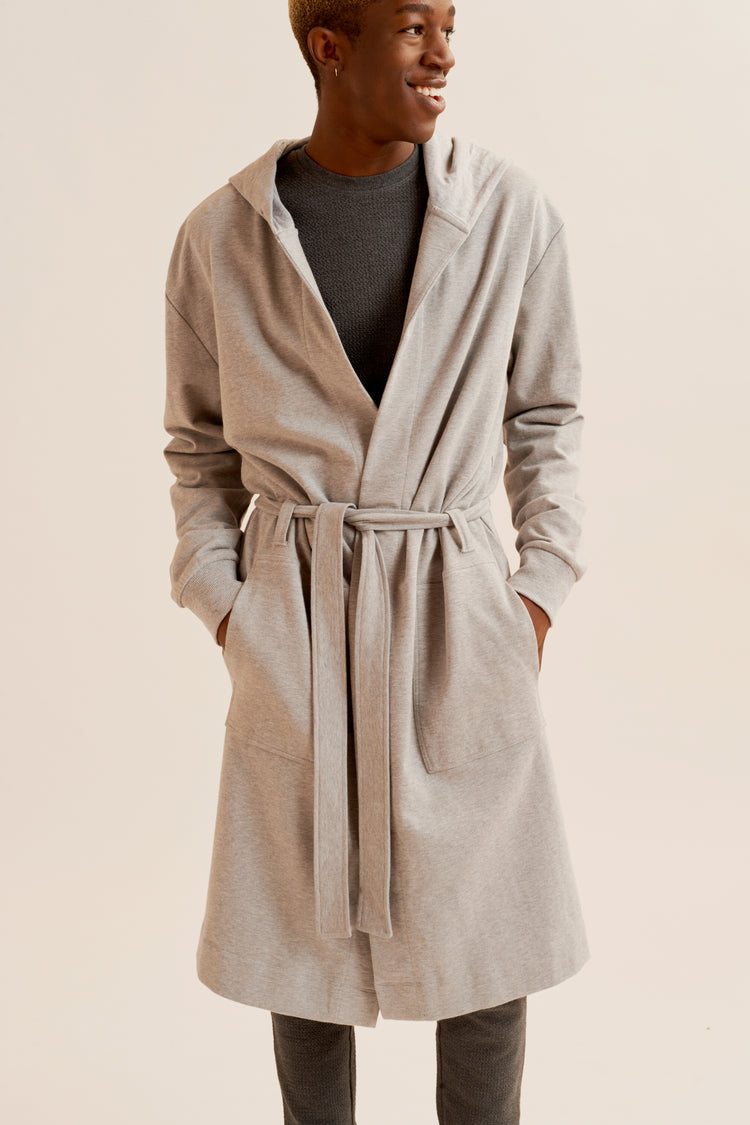 Loopback Terry Robe Heather Grey