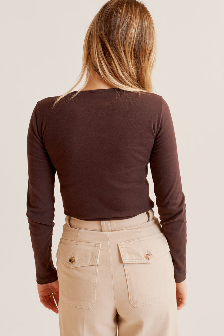 Fitted Longsleeve Cocoa