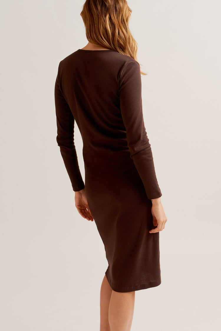 Longsleeve Dress in Cocoa Cocoa