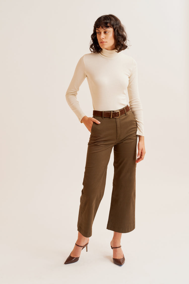 Culotte Trousers Khaki Green