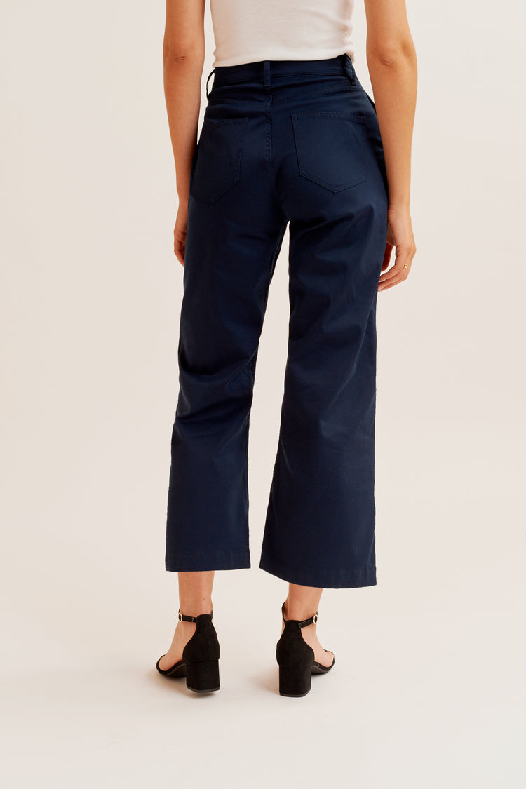 Culotte Trousers Navy