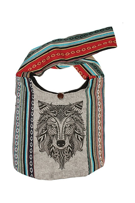 Wolf Market Bag - Enclothe Boutique