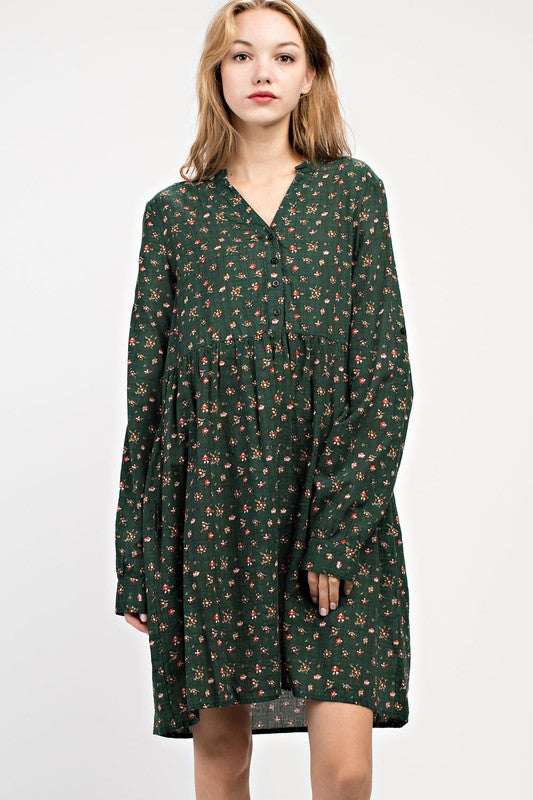 Ditsy Floral Shirt Dress - Enclothe Boutique