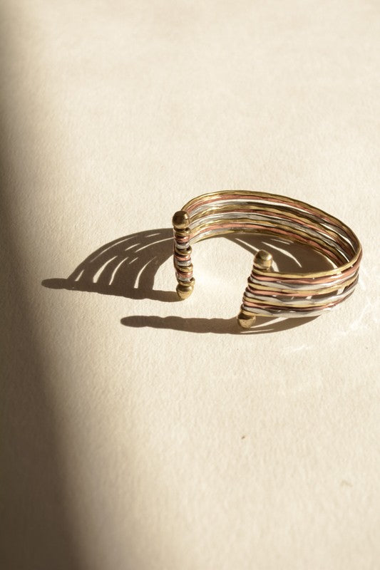 Mixed Metal Cuff Bracelet - Enclothe Boutique