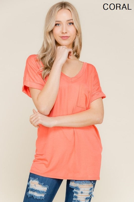Not Your Boyfriend's Slouchy Tee in Coral - Enclothe Boutique