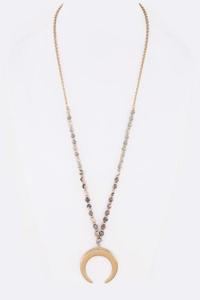 Crescent Moon Drop Necklace - Enclothe Boutique