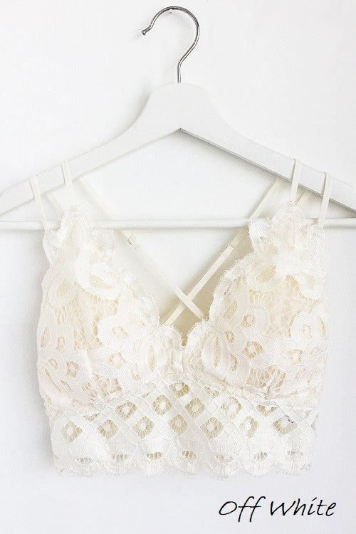 Queen's Lace Bralette in Off White