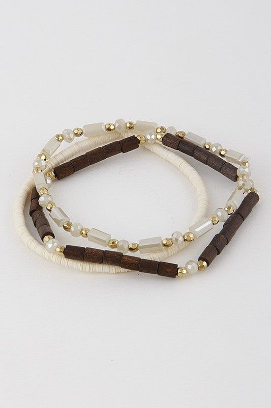 Stretch Bracelets in Natural - Enclothe Boutique