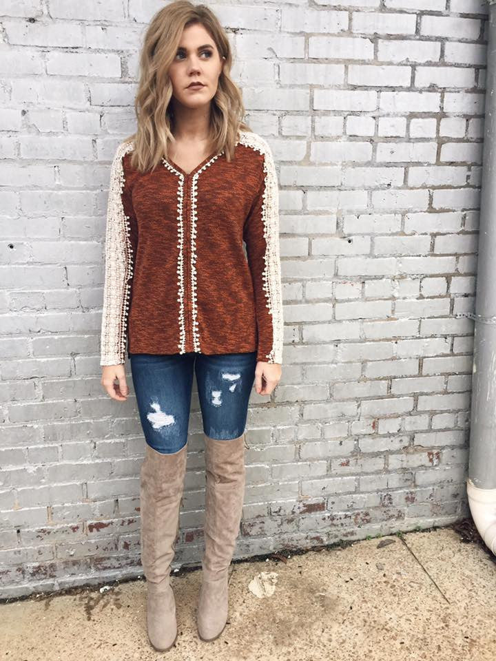 Crochet Down Your Sleeve Sweater