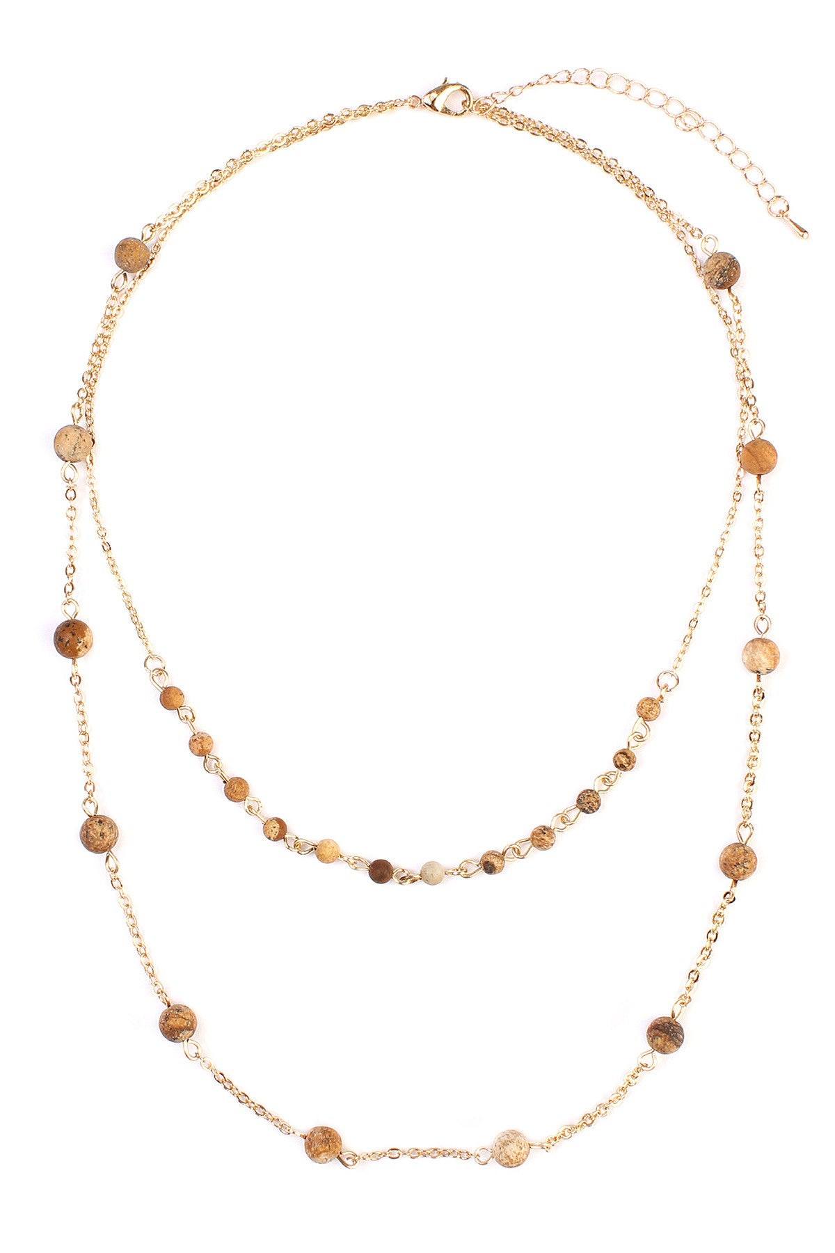 Wooden Bead Layered Necklace - Enclothe Boutique
