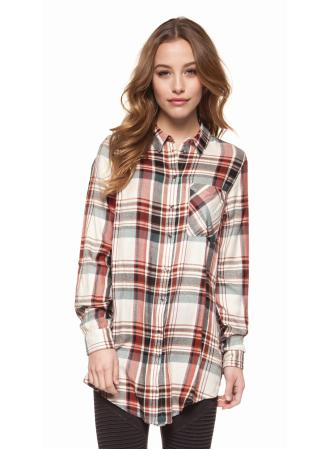 Deck the Halls Plaid Button-Up - Enclothe Boutique