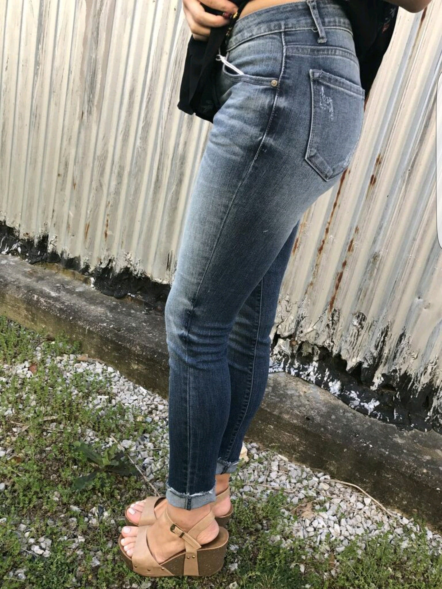 Cropped Jeans in Medium Denim