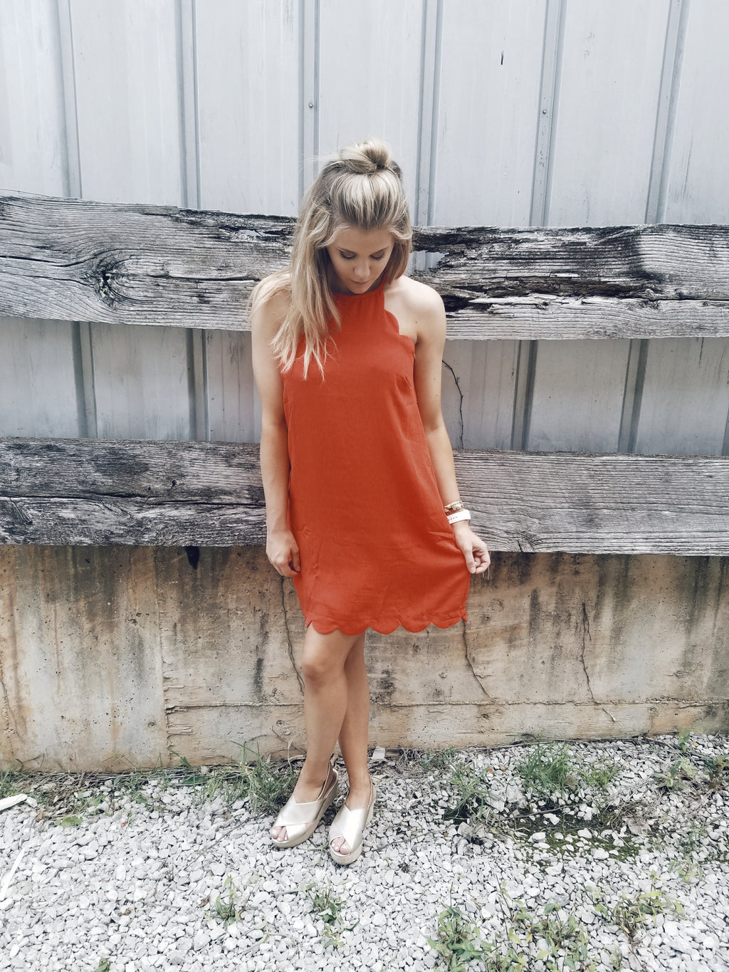 Scalloped Tomatoes Dress - Enclothe Boutique