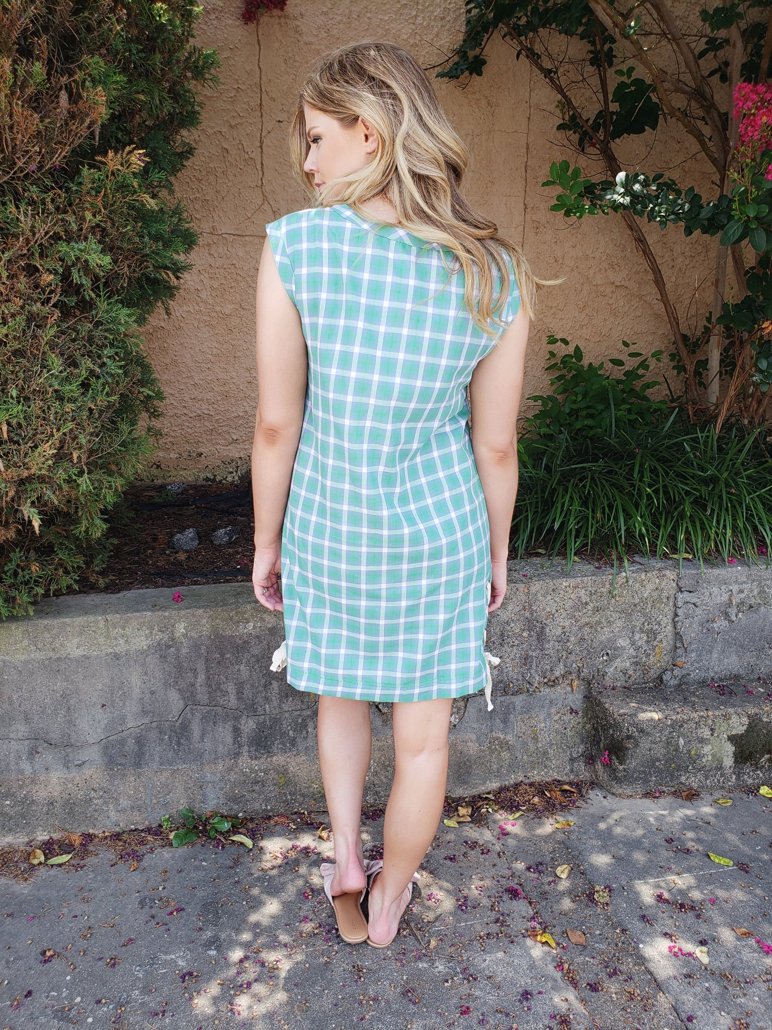 Gorgeous in Gingham Dress - Enclothe Boutique