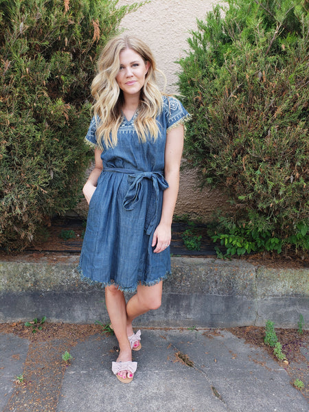 Vacation in Chambray Dress