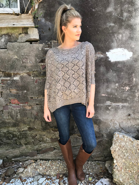 Brilliant Diamonds Poncho Pullover - Enclothe Boutique