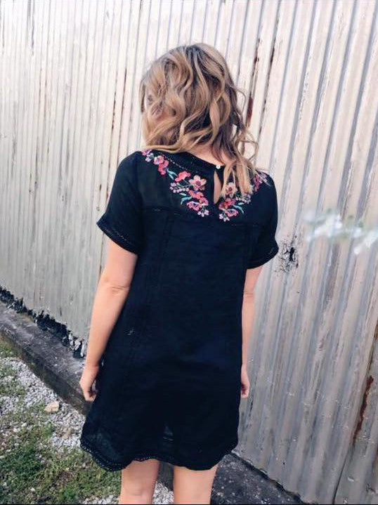 Peace, Love, and Embroidery Dress