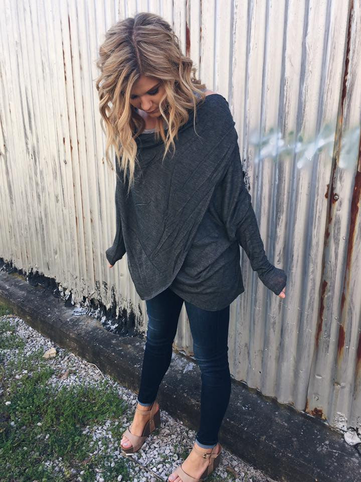 Grab and Go Multi-wear Knit in Charcoal