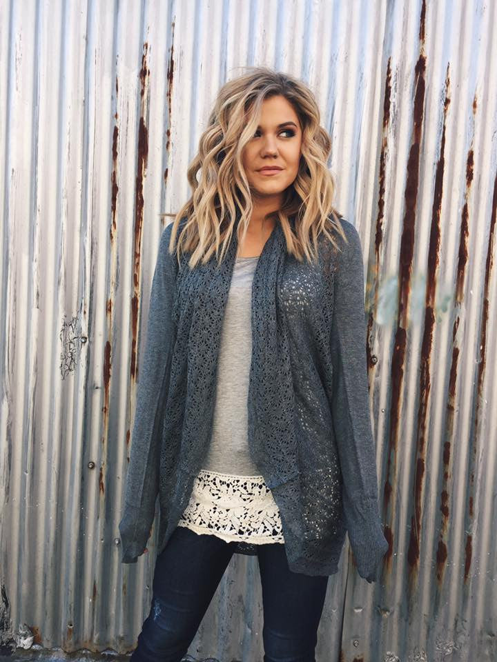 Lightweight Two Fit Knit Cardigan in Charcoal