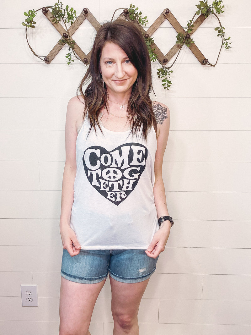 Come Together Swing Tank in White - Enclothe Boutique