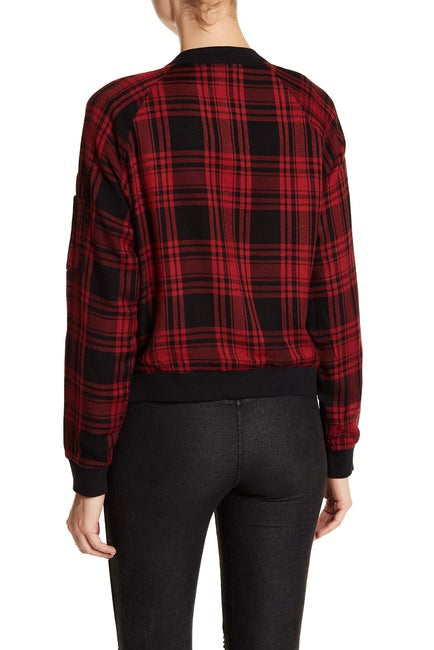 Dex Plaid Bomber Jacket - Enclothe Boutique