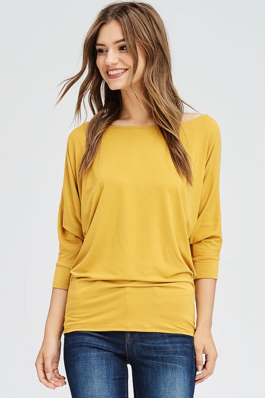 Cool Girl Shirt in Mustard - Enclothe Boutique